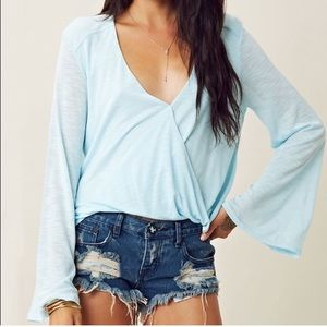 Turquoise Blue Life Wrap Top!